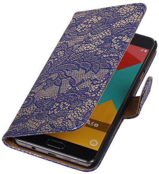 Mobieletelefoonhoesje.nl - Samsung Galaxy A5 (2016) Hoesje Bloem Bookstyle Blauw