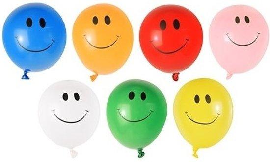 40x Grote waterballonnen met smiley - watergevecht ballonnen