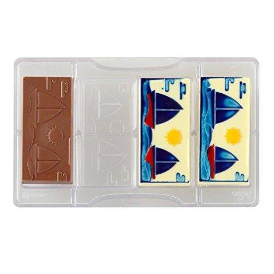 Chocolade mal repen met zeilboten - Decora
