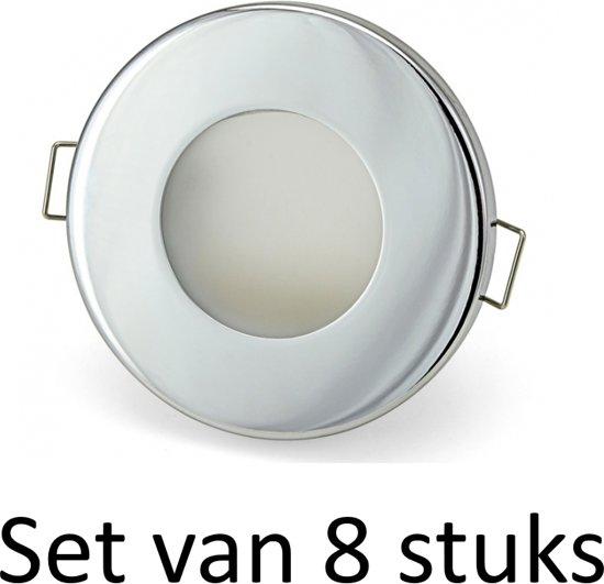 bol.com | Badkamer inbouwspots 3W GU10 inbouwspot Zilver rond | Koel ...