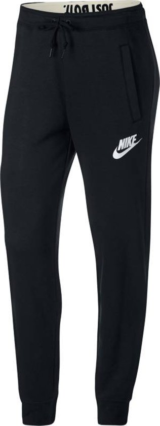 Nike Nsw Rally Pant Regular Sportbroek Dames - Black/Black/(White)
