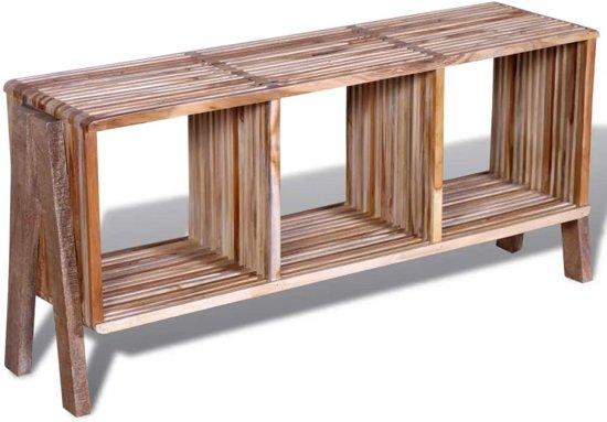 Bol vidaxl tv meubel met vakken gerecycled teak stapelbaar