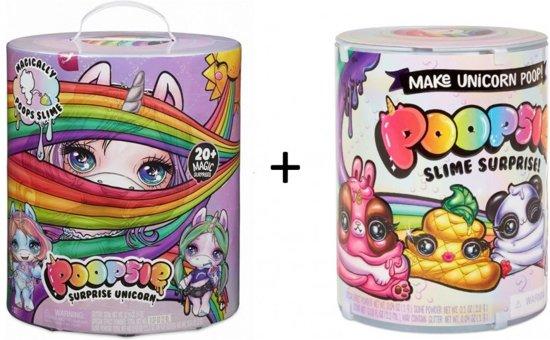 Poopsie Unicorn Slime Surprise - Blauw / Paars eenhoorn + Uitbreidingsset