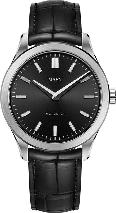 Maen MN1531.3.1.1B horloge heren - zwart - edelstaal