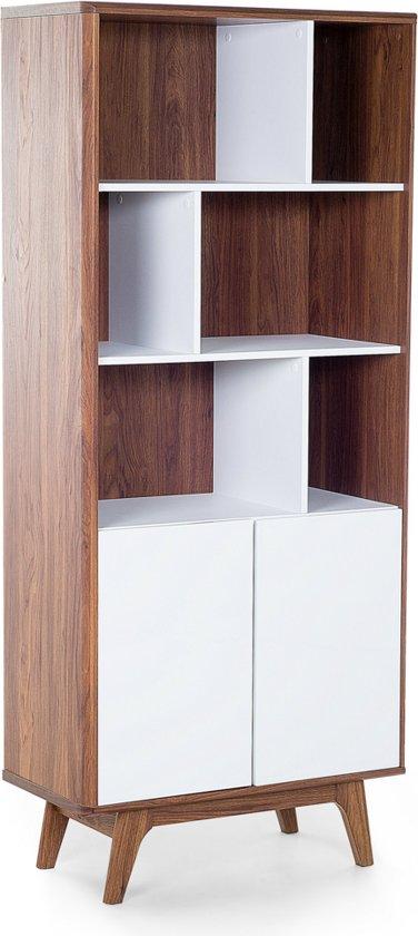 beliani columbus boekenkast mdf bruin 79x40x182