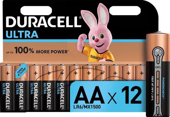 Duracell Ultra Power AA Alkaline Batterijen - 12 stuks