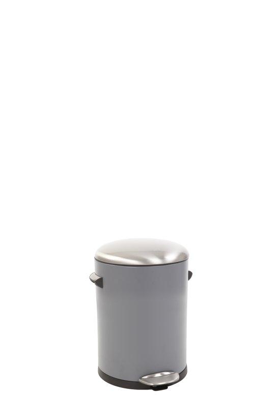 Eko Pedaalemmer 3 Liter.Eko Belle Deluxe Prullenbak 3 Liter Sandcoated Grijs