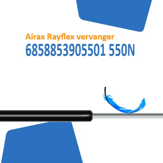 Vervanger voor Airax Rayflex 6858853905501 550N gasveer