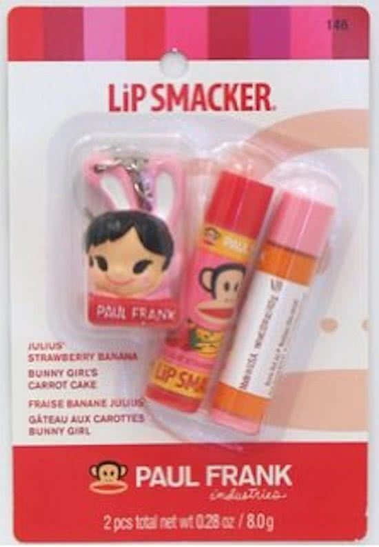 Lipsmackers Paul Frank - duo Strawberry Banana/Carrot Cake