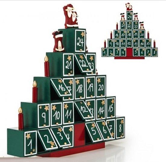 Adventkalender Kerstboom met lades Valentinaa