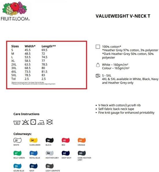 Donker Kleur Blauw Loom Hals Valueweight Fruit Maat Of V Pack 3 The S zVUSMp