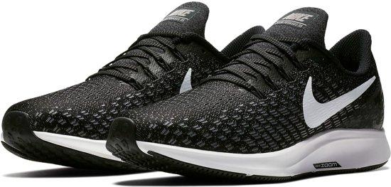 Nike Nike Air Zoom Pegasus 35 Sportschoenen Heren - Black/White-Gunsmoke-Oil Grey - Maat 44.5