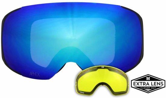 Aphex Kepler sneeuwbril blue+yellow extra lens