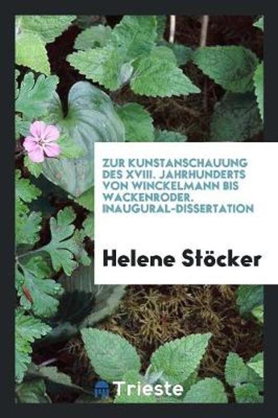 Boek cover Zur Kunstanschauung Des XVIII. Jahrhunderts van Helene Stöcker (Paperback)