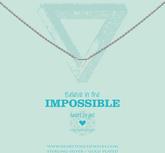 bol | heart to get - s triangle silver ketting n248str15s