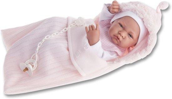 Antonio Juan Babypop fullbody meisje met slaapzak en speen 42 cm