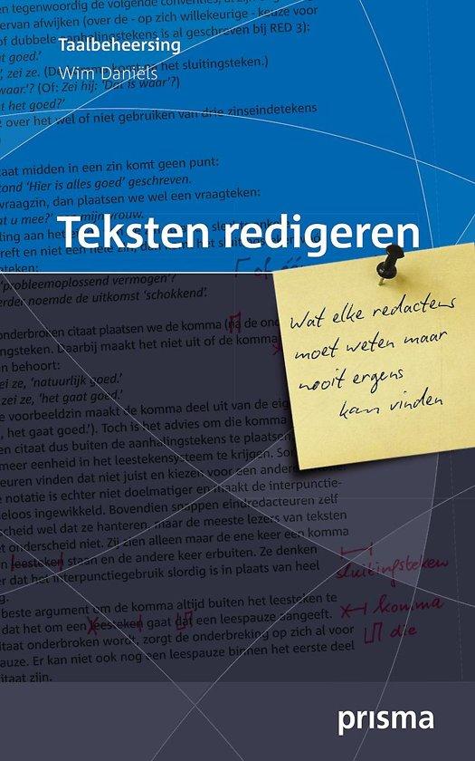 Boek cover Teksten redigeren van Wim Daniëls (Paperback)