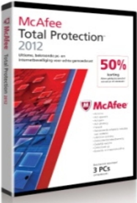 McAfee Total Protection 2012 - 3 gebruikers / Nederlands / WIN / Half Price Dvd Promo