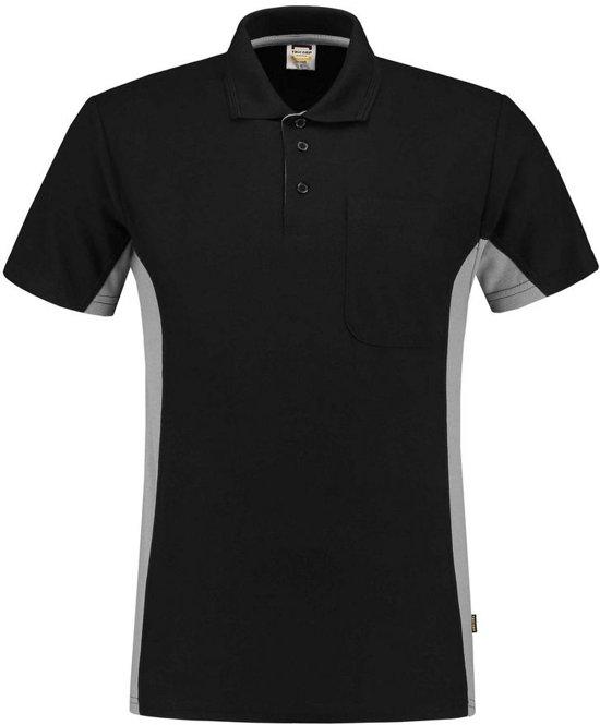 Tricorp poloshirt bi-color - Workwear - 202002 - zwart / grijs - Maat XL