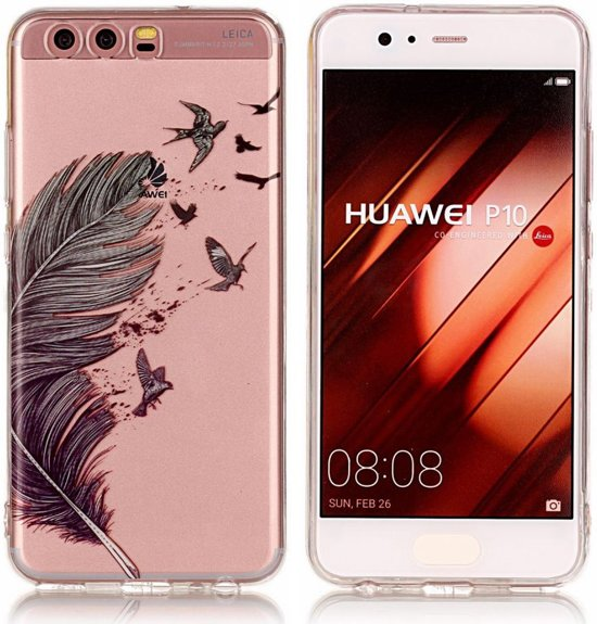 Hauwei P10 TPU Back Cover Feathers in Trembleur