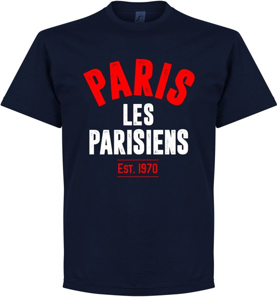 Paris Saint Germain Established T-Shirt - Navy - S