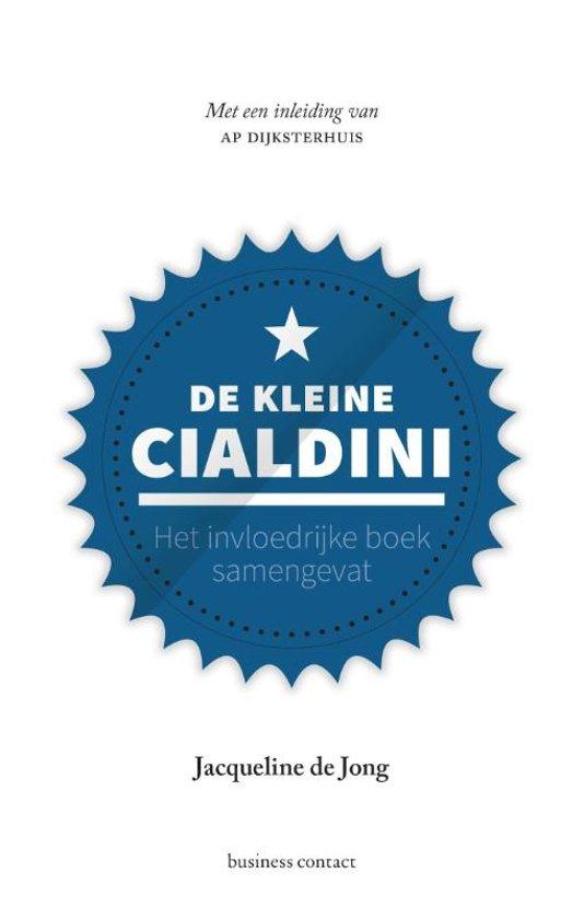 Boek cover Kleine boekjes - grote inzichten - De kleine Cialdini van Jacqueline de Jong (Hardcover)