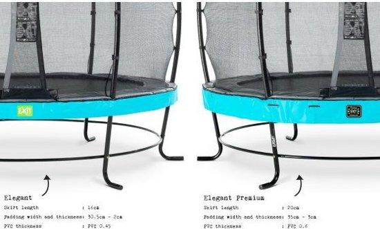 EXIT Elegant Premium trampoline 244x427cm met veiligheidsnet Economy - blauw