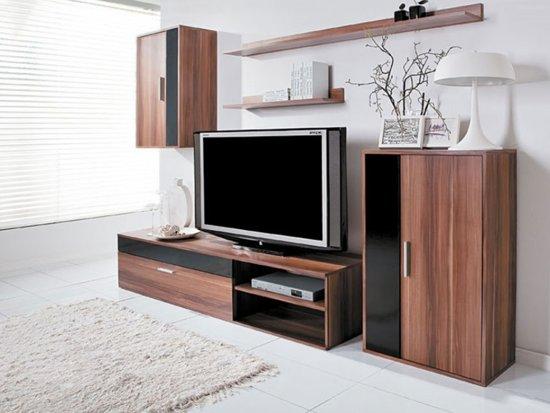 Kast Woonkamer Zwart : Bol.com tv meubel set tv kast inclusief: 2 kasten & 2 gratis