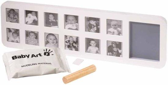 Baby Art Eerste jaar - wit & grrijs