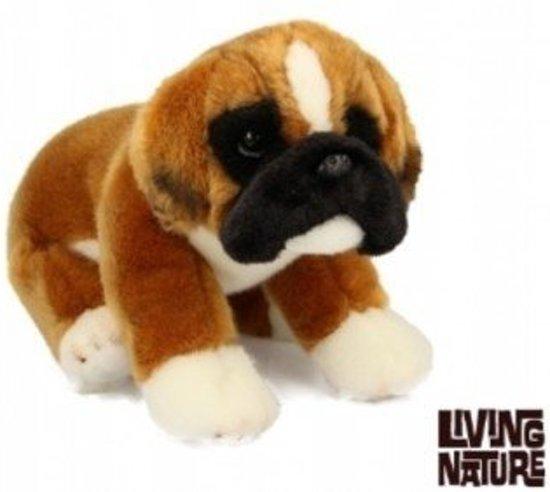 Boxer Hond Knuffel, zittend, Living Nature