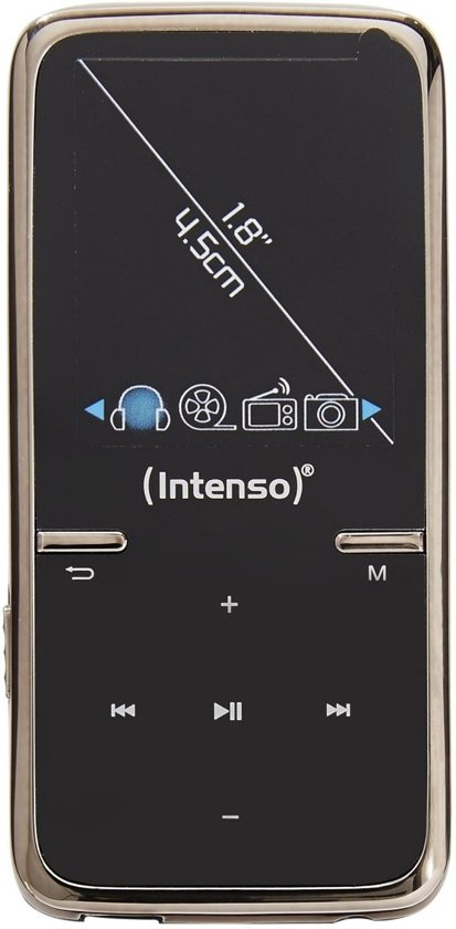 Intenso Video Scooter MP3 Video Player 8 GB schwarz