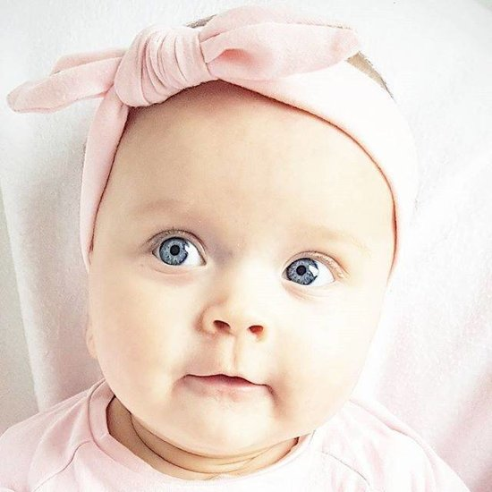bol | baby haarbandje met knoop zachtroze