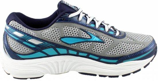 Brooks Dyad 8 Hardloopschoenen - Maat 40.5 - Vrouwen - grijs/wit/blauw