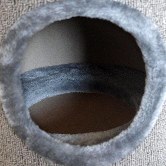 vidaXL Kattenhuis/krabpaal grijs 100 cm