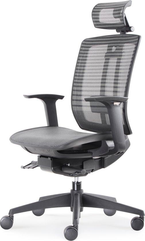 Bureaustoel Met Hoofdsteun.Bens 816dh Synchro 4 Lux Topmodel Bureaustoel Met Zwevende Zitting En Hoofdsteun Zwart