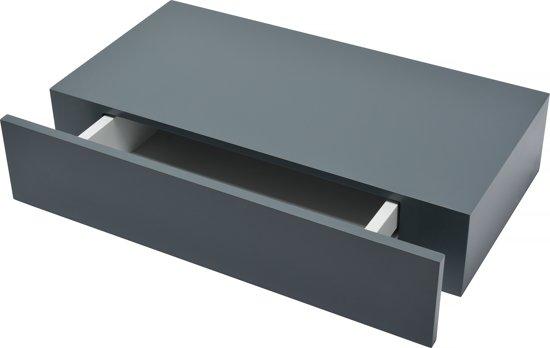 Wandplank Met Lade Zwart.Bol Com Duraline Xl10 Met Lade Mat Antraciet 48x 25 Cm