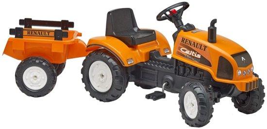 Falk 'Renault Celtis' oranje traptractor incl. aanhanger