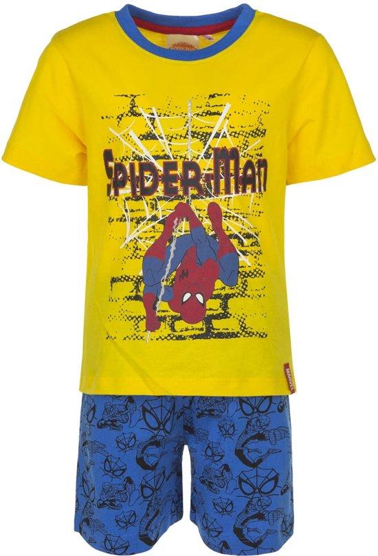Spiderman shortama 94 cm geel