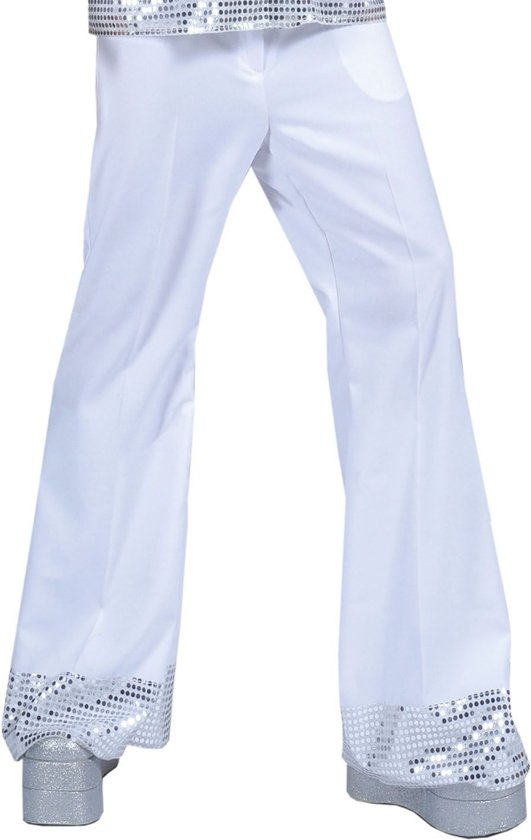 bol | witte disco broek met glitters voor heren