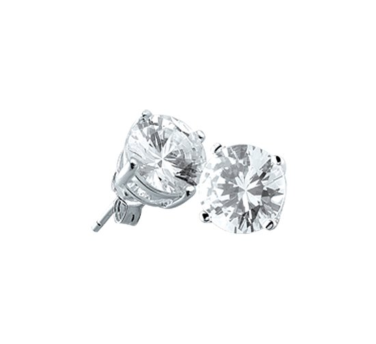 The Jewelry Collection Oorknoppen Zirkonia - Zilver