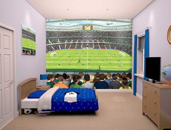 Verrassende Kinderkamer Paarden : Bol.com voetbalkamer fotobehang walltastic voetbalstadion