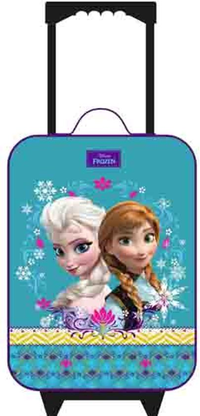 Frozen Anna & Elsa Trolley Kinderkoffer - Turquoise