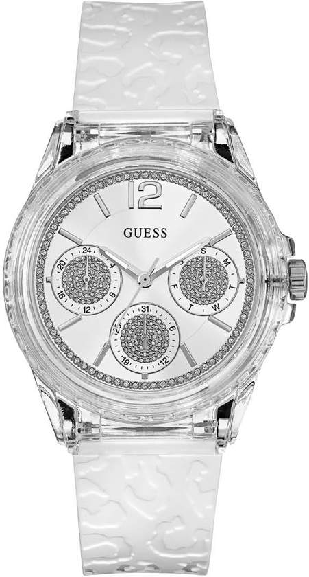 GUESS Watches Dames Horloge W0947L2 siliconen wit Ø 40 mm