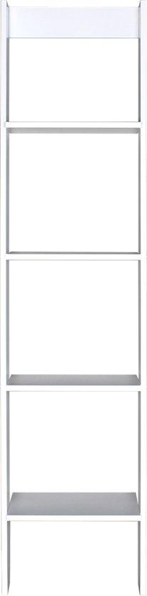 Bopita - Wandrek Ladder - 27 X 40 X 169 Cm - Wit