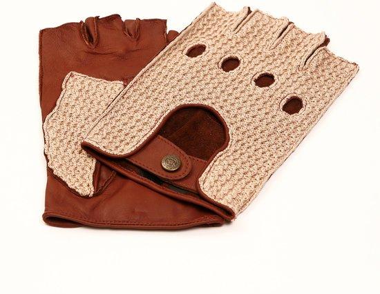 Laimböck Boston dames crochet autohandschoenen met halve vingers - maat 7,5