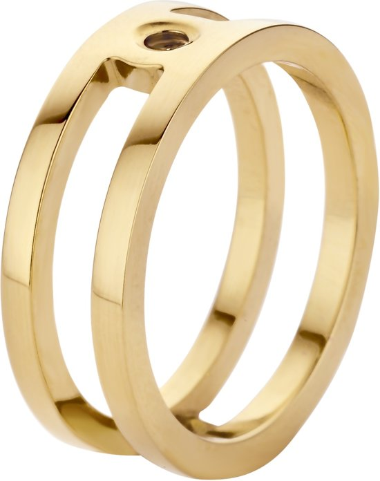 Melano twisted Trista ring - Goudkleurig - Dames - Maat 50