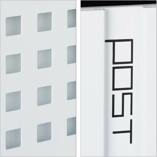 relaxdays brievenbus met slot - modern design - A4 formaat - wandbrievenbus - wandmodel