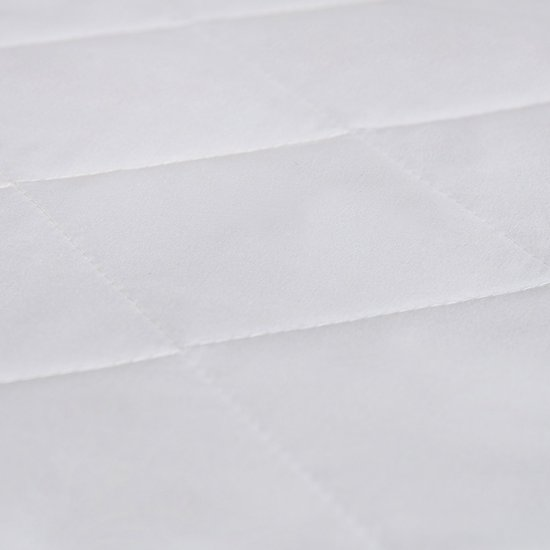 Matras - 80x200  - comfortschuim - microvezel tijk - wit