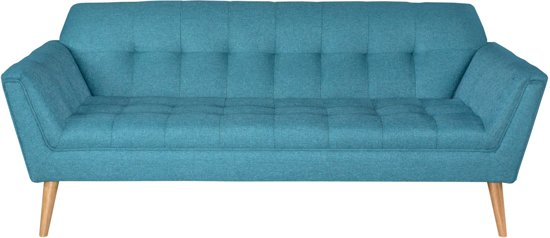 Retro bank sofa 3 zits petrol teal for Bank petrol kleur