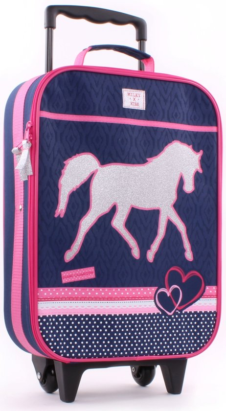 Milky Kiss PAARDEN Kinder Trolley Handbagage Paard